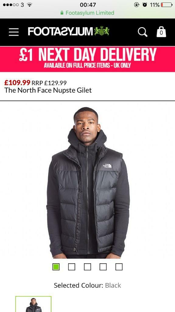 NORTH FACE BLACK GILET
