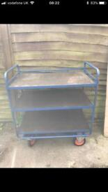Garage work bench storage trolley racking. Heavy duty
