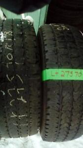 Two Firestone LT 275 70 18 winter tires.