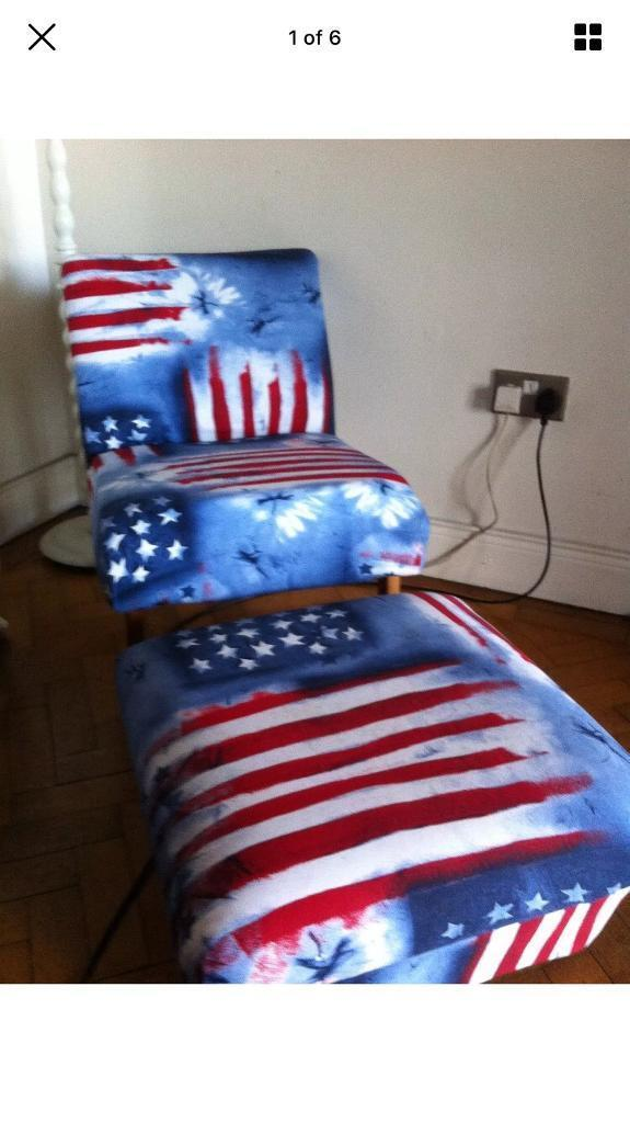 Funky chair and footstool
