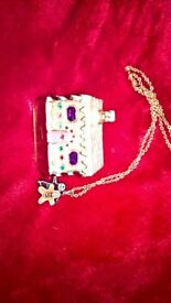 monet gingerbread trinket with necklace
