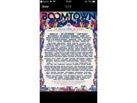 1x Boomtown ticket