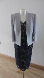 Jacques Vert Dress and Jacket with matching John Lewis handbag. Mother of the Bride or Groom.