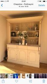 Dresser shabby chic style solid mahogany