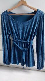 MATERNITY LONG SLEEVE BLUE TOP size 16