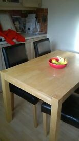 modern dining room table and chairs/£50 quick sale