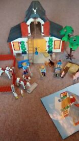 Playmobil farm. Excellent condition Needs building up! Includes everything seen in photo