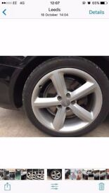 "4 X AUDI 18"" S LINE WHEELS WITH TYRES rotor monza"