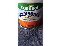 Full tub cuprinol ducksback red cedar fence paint treatment
