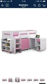 Pink and White Cabin Bed For Sale - Brand New