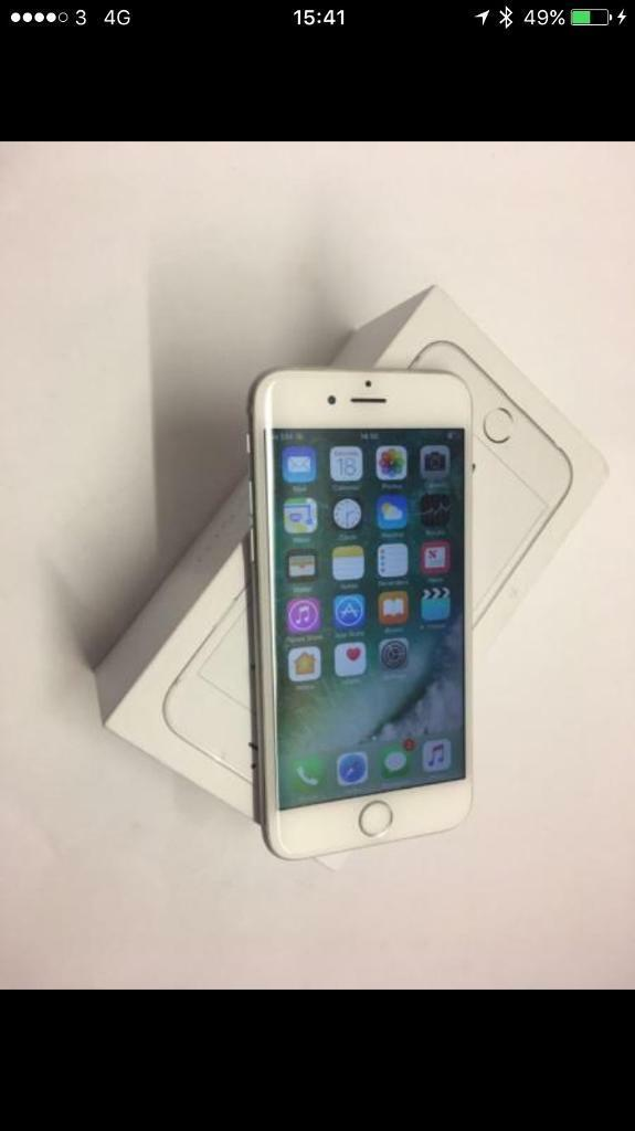 iPhone 6s 64gb mint 02/giffgaffin Stoke on Trent, StaffordshireGumtree - IPhone 6s 64gb mint 02/giffgaffHere I have a very good condition IPhone 6s in silver fully working all original comes with charger USB and a box can deliver or local collection also its on 02 and works on giffgaff can be unlocked for £25 if you wish...