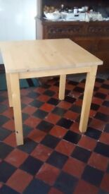 Small lightwood Ikea Table