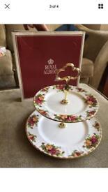 Royal Albert 2 tier cake stand