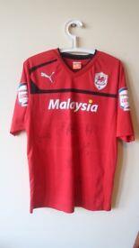 Signed Cardiff City shirt 2012/13