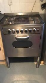 Silver electric/gas oven