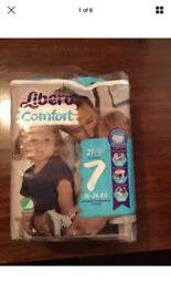 Libero Nappies size 7 8 Packs of 21 total 168 Nappies