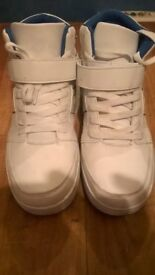 white donnay high tops ( size 8 )