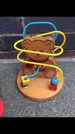 Wooden Beaded bear