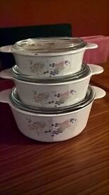 3 tiered casserole dishes