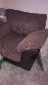 Brown arm chair dfs