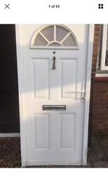 UPVC White Front door in frame ready to fit!