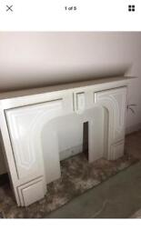 Fireplace surround hearth