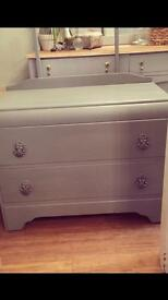 Gorgeous chest of drawers with mirror.