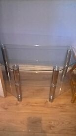 tv stand glass table