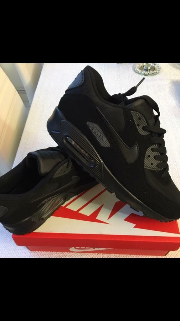 SIZE 6 7 8 9 10 11 BRAND NEW NIKE AIRMAX 90 AIR MAX BOXED TRAINERS BLACK (NOT) tn 95 110 adidas 97   in Erdington, West Midlands   Gumtree