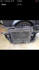 Audi A4 b6 front panel with radiators 2.5tdi