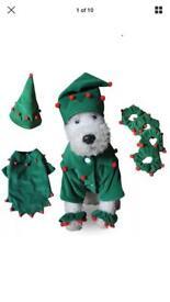 Dog Christmas elf costume