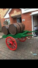 Old wooden push cart