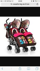 Cossatto double pushchair
