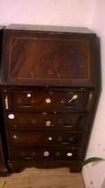 Antique Wooden Mahogani Writing bureau