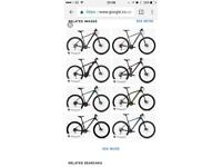 Wanted Mountain Bike 20 to 21inch Frame