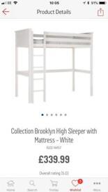 High sleeper single bed & mattress.