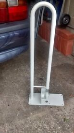 Hinged Grab Handle / Rail in White - Bathroom - AS NEW - Collect Newmarket (Nr Cambridge) CB8 7AT