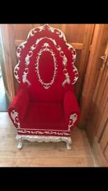 2 wedding chairs for sale