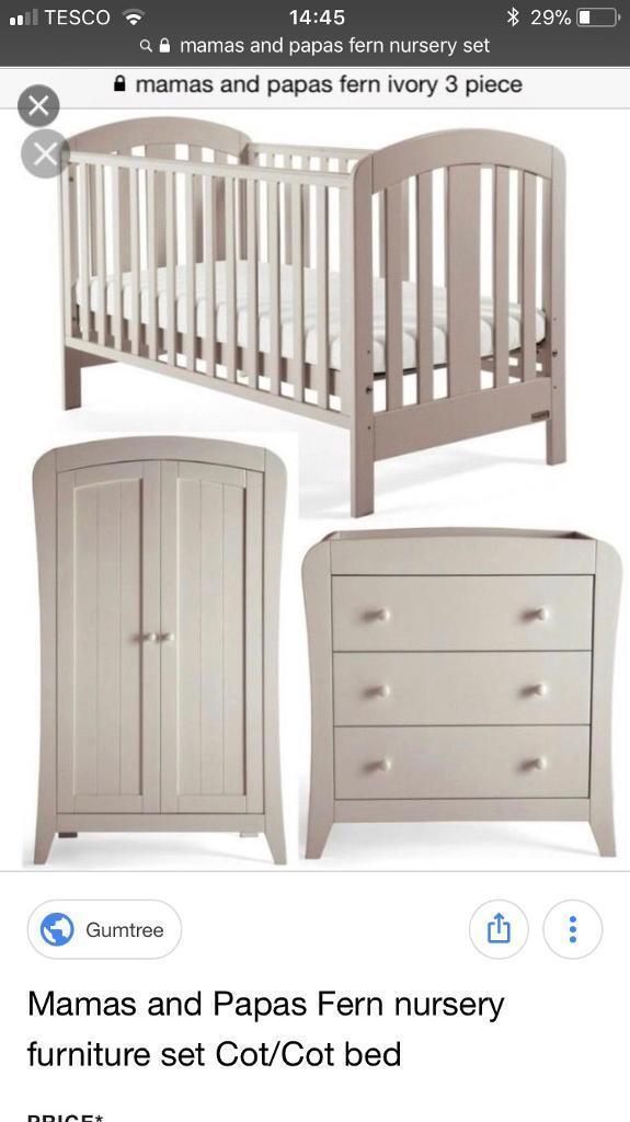 Mama Papas Fern Nursery Furniture 3 Piece Set