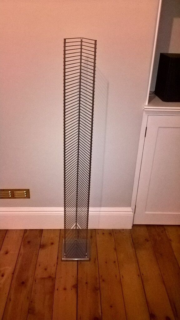 CD Rack (chrome, pristine condition, unused and boxed)