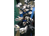 HUGE JOBLOT OF GOLF CLUBS, NEW, EX DISPLAY, USED, IRONS, WOODS. GOOD RESALE