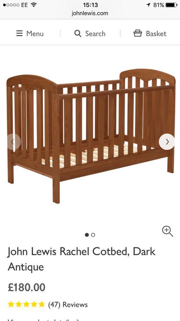 John Lewis Rachel Cotbed Dark Antique