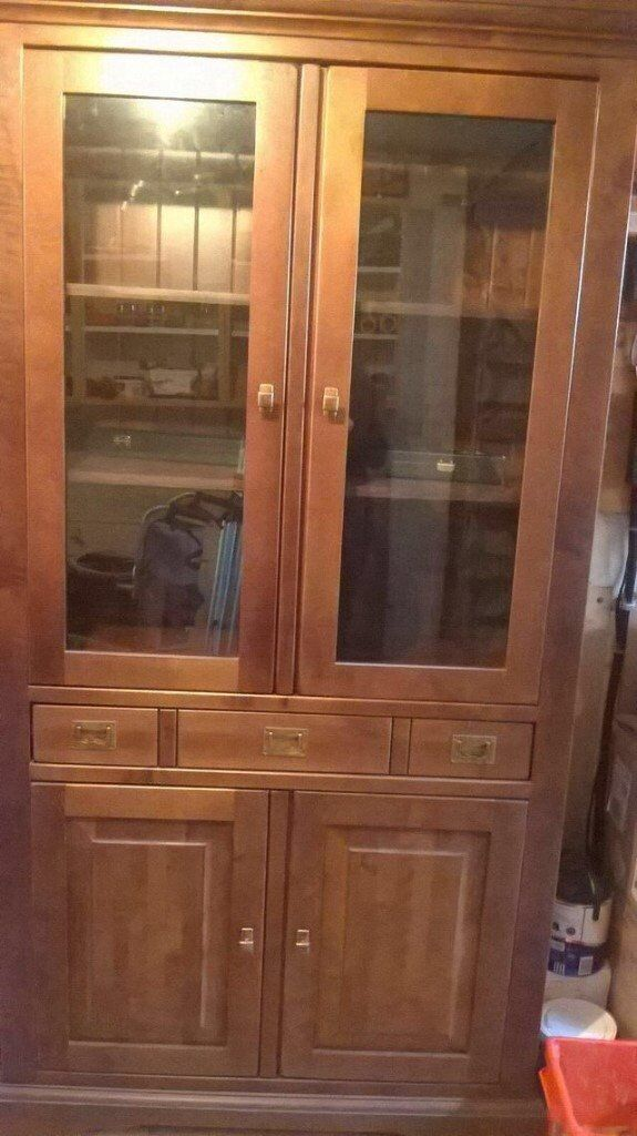 Dining room cabinet in dark wood in Guiseley West Yorkshire