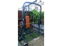 full size smith machine with weight bench