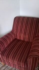 Next red striped armchair