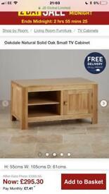 Oakdale Natural Solid Oak TV unit