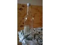 80x 1 litre used glass bottles