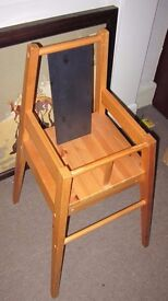 Solid pine babies highchair