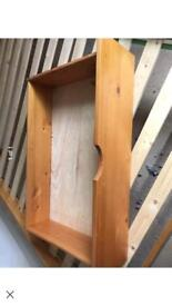 Two pine under bed storage