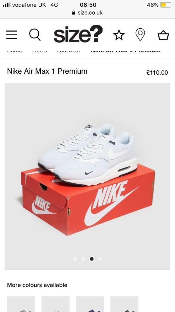 reputable site 4a2a0 a806f Nike air max 1 pure premium platinums ( brand new with recepit )